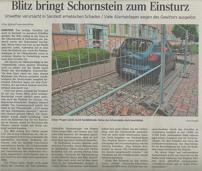 Hildesheimer Allgemeine Zeitung, 12.08.15